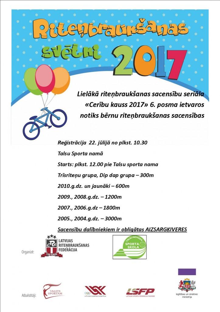 Plakats_Bērnu riteņbraukšana